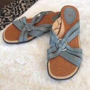 Never Worn ARIAT Dusty Blue Comfort Sandals SZ 6